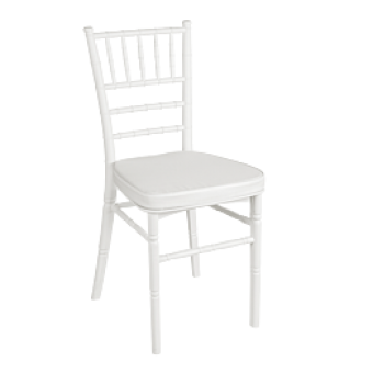alquiler silla metal blanca